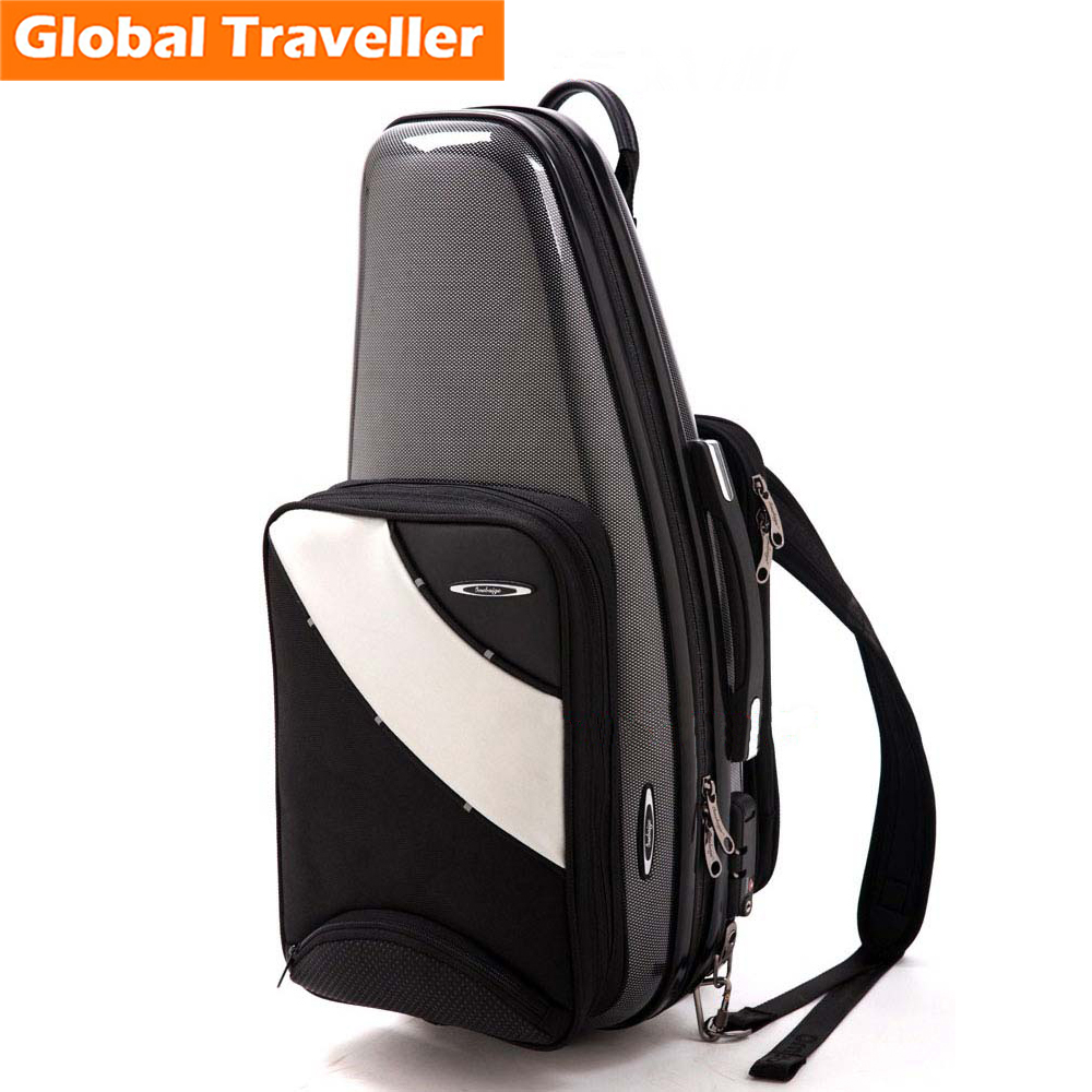 Professional Water-proof Shockproof Cozy Alto Sax Case Alto Sax Backpack Alto Sax Shoulderbag customs Lock for Saxophone use купить в Москве 2019