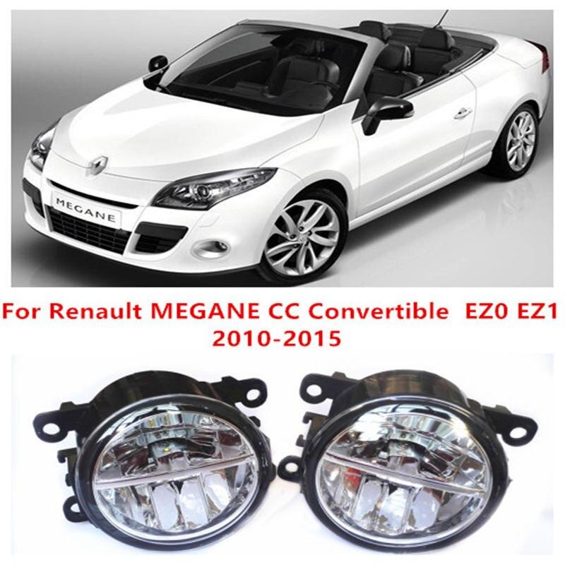 ФОТО For Renault MEGANE CC Convertible  EZ0 EZ1  2010-2015 10W Fog Light LED DRL Daytime Running Lights Car Styling lamps