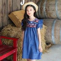 New Summer Style 2018 Petal Sleeve Cotton Kids Dress Baby Princess Dresses For Girls Children S