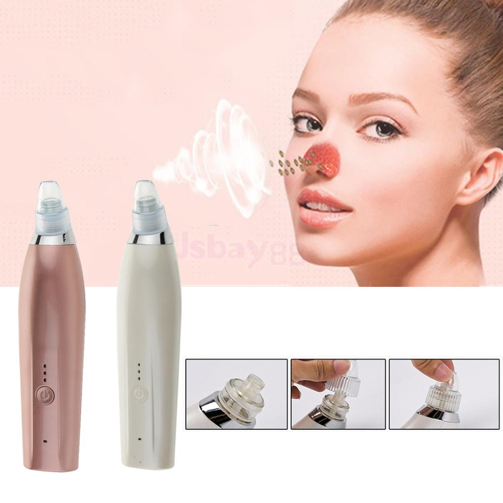 Electric USB Facial Blackhead Remover Extraction Suction Cleaner Electronoic Vacuum Acne Extractor Cleanser for Nose Face T Zone original package electric facial pore cleanser blackhead suction acne remover removal 2 in 1 facial steamer spray moisturizer