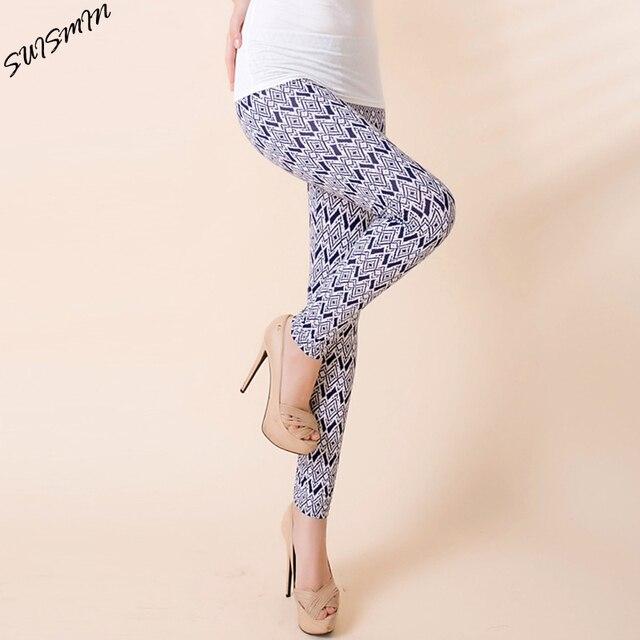 Women Elastic Black Milk Pant Printed Leggings For Women Slim Casual Leggings