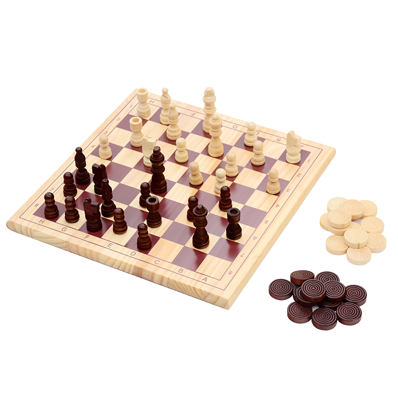 ФОТО Vintage Wood Pieces Chess Set Folding Board  Wood Hand Carved Gift Kid Toy chess play chess for beginners