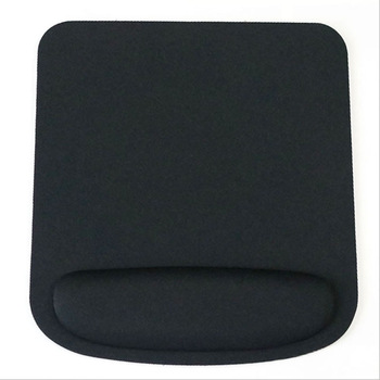 Wrist Support Black Mouse Pad