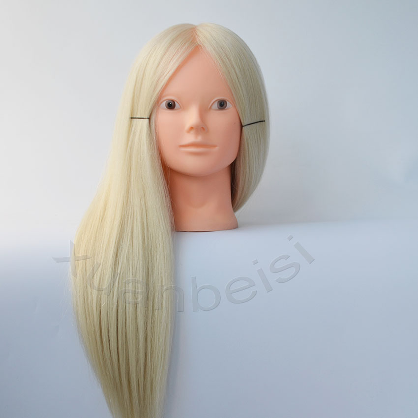 Blonde hair mannequins for sale makeup practice head mannequin Nice manequim with white hair Bride Curl hairdressing doll heads