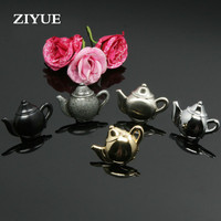 2pcs Free Shipping Classical Chinese Bronze Handle Drawer Cabinet Handle Teapot Type Ancient Silver Single Hole