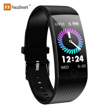 FocuSmart 2019 Q18 Smart Wristband Fitness Tracker Blood Pressure Heart Rate Monitor Waterproof Smart Bracelet For IOS/Andriod newest c5 heart rate monitor smart wristband bluetooth 4 2 smart bracelet doe andriod ios system