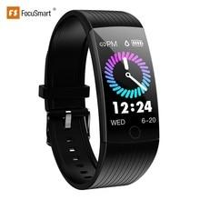 FocuSmart 2019 Q18 Smart Wristband Fitness Tracker Blood Pressure Heart Rate Monitor Waterproof Smart Bracelet For IOS/Andriod цена