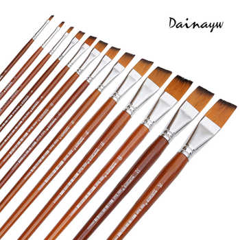 13Pcs Long Handle Nylon Hair Paint Brush Gouache Watercolor Brush Oil Painting Acrylics Brush For Art Supplies - Category 🛒 Office & School Supplies