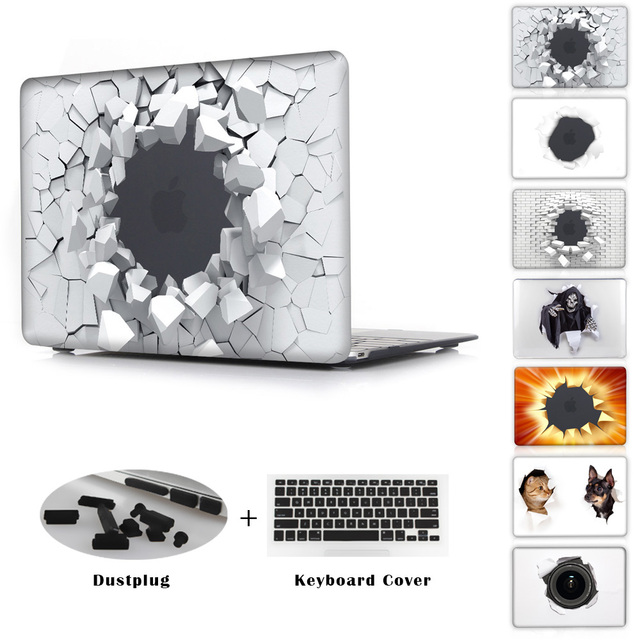 Colorful Blasting Style Case For Apple macbook Air 11 12 13  Pro 13 15 with Retina Clear Laptop Protector For Pro 13 15 Cover