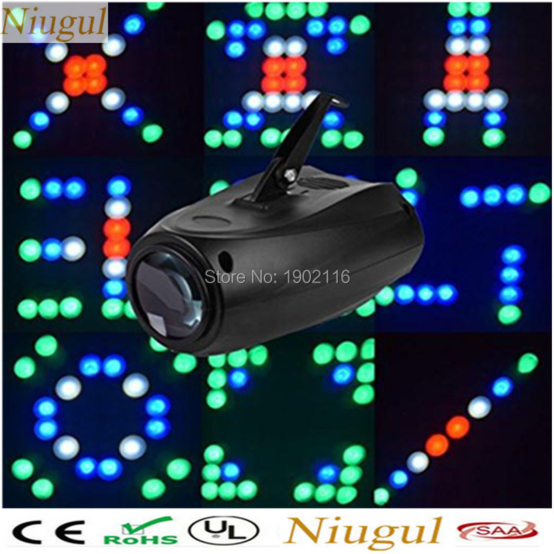 Free shipping Mini 64 Leds RGBW Lattice Patterns Sound Projector Lights Disco Home Club Party DJ Show Stage Lighting led lamp