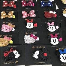 Cute Cartoon Minnie Mouse Ears Hairpin Girls Kids Hair Clips Bows Barrette Accessories For Children Hairclip Hairgrip Headdress