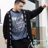 8XL 7XL 9XL Men Sweater Autumn Winter Knitted Solid Simply Style Pullover Casual Loose Sweater Jumper Male Black Outerwea