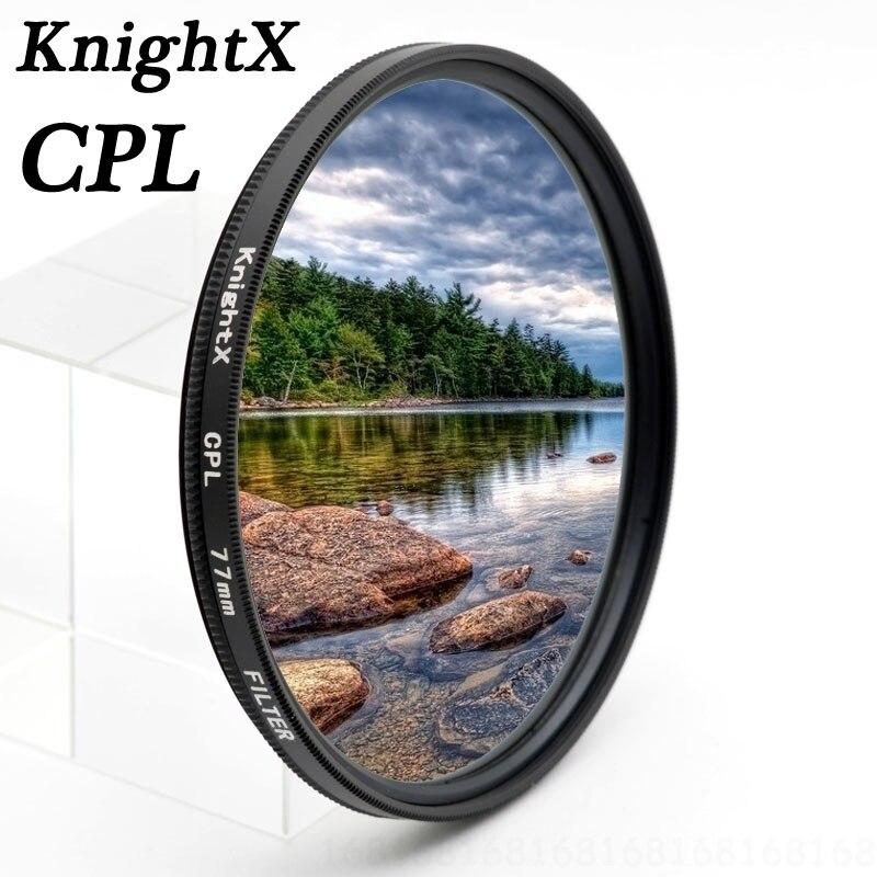 KnightX Polarizzatore CPL cpl Polarizzatore 49 52 55 58 62 67 72 77 lens filter per Sony Canon Nikon d5300 600d d3200 d5100 d3300