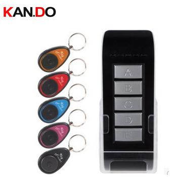 Bezprzewodowy elektroniczny lokalizator kluczy przypomnienie z 5 pęku kluczy odbiorniki dla utraconych kluczy lokalizator gwizdek lokalizator kluczy znalezienie alarmu tanie i dobre opinie F810 Kan Do red blue yellow grey