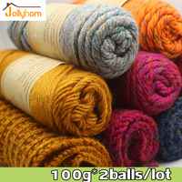 100g 2balls Lot Anti Pilling Mink Cashmere Yarns For Adults Sweater Scraf Yarn 3 5mm Thick