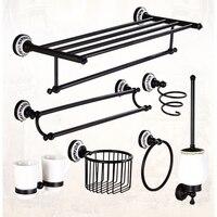 Xogolo Wholesale And Retail Fashion Black Jade Mosaic Bath Hardware Set Towel Rack Towel Bar Paper