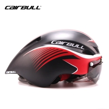 8 COLOR CAIRBULL Road Racing Bike Helmet Cycling Helmet TT Ultralight Integrally-molded with Visor Goggles Bicycle For Men Women