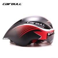 8 COLOR CAIRBULL Road Racing Bike Helmet Cycling Helmet TT Ultralight Integrally Molded With Visor Goggles