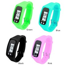 Digital LCD Pedometer Strap-hand Pedometer Sport Bracelet Watch Run Step Calorie Counter Walking Distance Electronic Counter