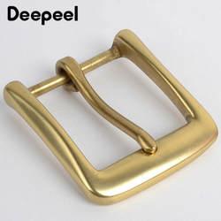Deepeel 40 мм твердая латунная пряжка для ремня для мужчин женщин металлическая пряжка для ремня 38-39 мм Сделай Сам кожевенное ремесло джинсы