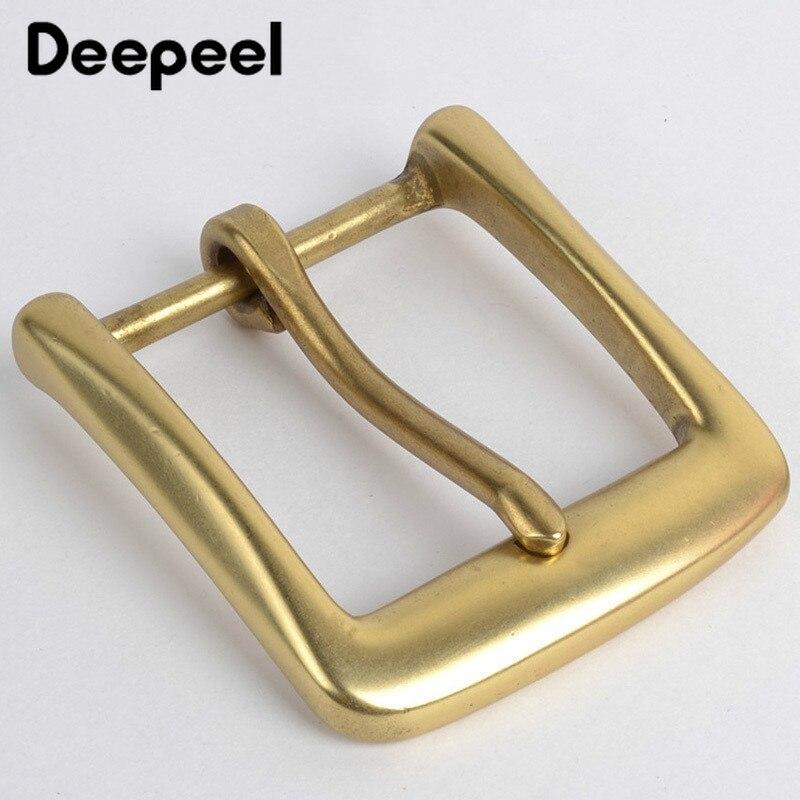 Deepeel 40mm Solid Brass Belt Buckle For Men Women Metal Pin Buckle Head For Belt 38-39mm DIY Leather Craft Jeans Accessories