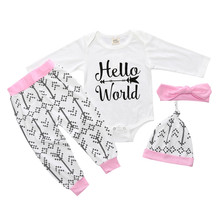 Newborn Baby Boys Clothes 2018 Summer Baby Boys Clothing Sets Rompers+Pants+Hat 3pcs Girls Outfit Suit Kids Infant Clothe DB0223