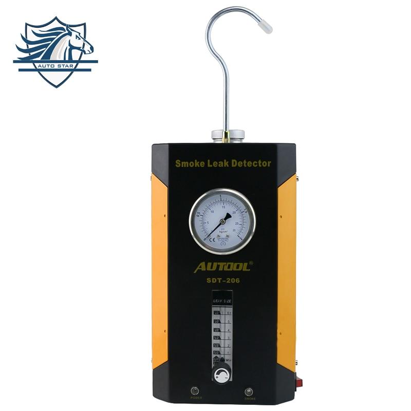 Цена за Недавно Детекторы дыма autool SDT-206 течеискатель трубы систем, за исключением EVAP для всех транспортных средств задымление диагностический тестер