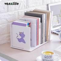 Vanzlife Книга хранения стойки деревянные офисные desktop-файл полки информации журнала стойки