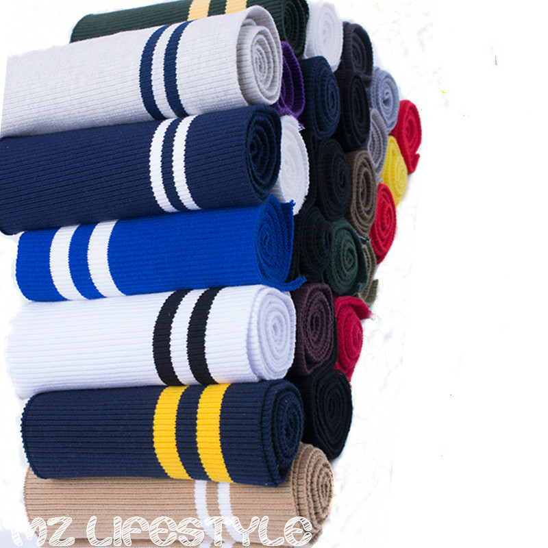 New arrival 80cm-85cm length Thick cotton knitted fabric DIY sewing cottonl clothing sweater cuff cotton fabric