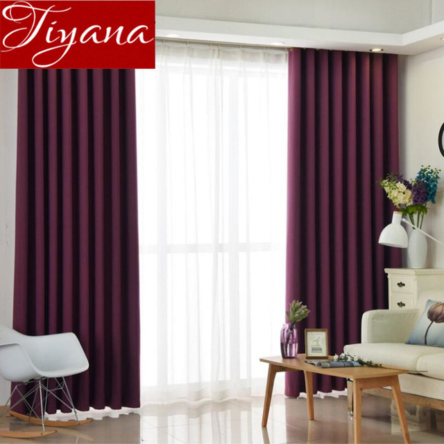 Purple Curtains Solid White Sheer Voile Window Modern Living Room Bedroom  Tulle Curtians Green Drapes Blackout
