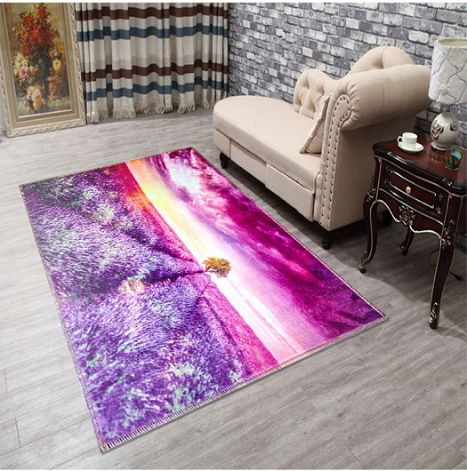 Dropship 3D Flower Printed Rugs and Carpets for home living room ...