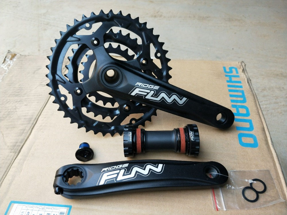 original FUUN 9 speed 44*32*22T hollow tech Aluminum alloy mtb bicycle crankset original iscg03 mrg g2 32t 36t speed hollow cnc aluminum alloy mtb bicycle chain guide guidance position protector