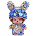 MANY COLORS!  BIG MONCHHICHI MONCHICHI keychain lovely doll pendant key chain gift for girl friend woman bag charm key ring