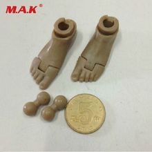 1/6 Soldier Bare Feet+Connector for 12 HT DAM TC Action Figure Body Toys Free Shipping