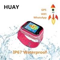 Дети gps трекер часы 4 г умные фунтов Wi Fi местоположение SOS вызова экран 1,44 'Камера WhatsApp Wechat часы для детской Q403