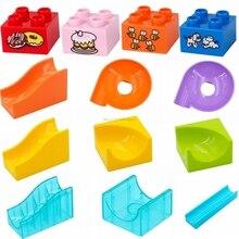 Legoing Duplo строительные блоки семья сборки слайд торт коробка прокатки шары Высокие кирпичи аксессуары части Блок Детские игрушки Подарки