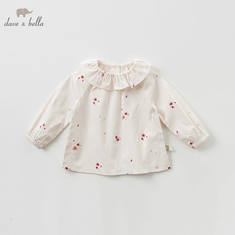 DB9946 dave bella apring baby girls print clothing children long sleeve t-shirt infant toddler high quality tops kids cute teesDB9946 dave bella apring baby girls print clothing children long sleeve t-shirt infant toddler high quality tops kids cute tees