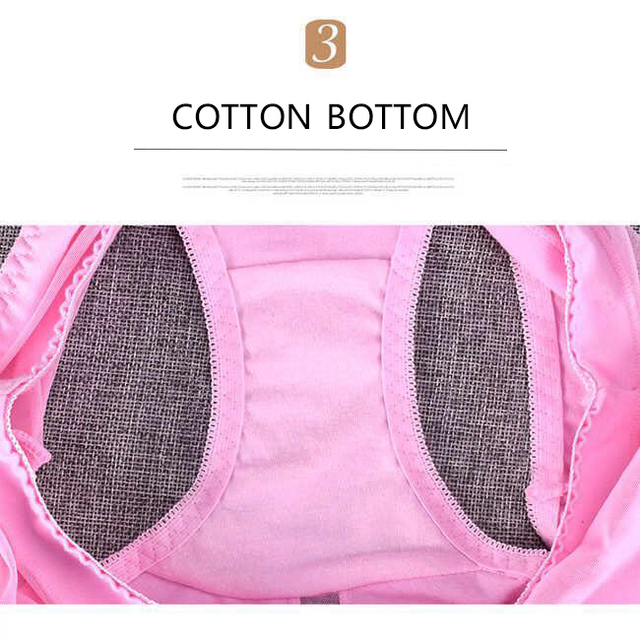 New style push up ladies cotton high waist hip-lift sexy panties high-elasticity plus size mesh lace triangular underwear women 4