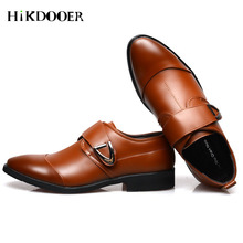 New Arrival Men Formal Shoes Buckle Strap Pointed Toe Flat Shoes Top Quality zapatos hombre vestir Male Dress Shoes new arrival genuine leather men dress shoes men s pointed toe flat oxfords shoes fashion formal business for male zapatos hombre