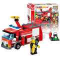 206Pcs Fire Fight Series Fire Engine Kid Building Block Model DIY Construction Bricks Compatible Legoelieds Lepin Toys For Child