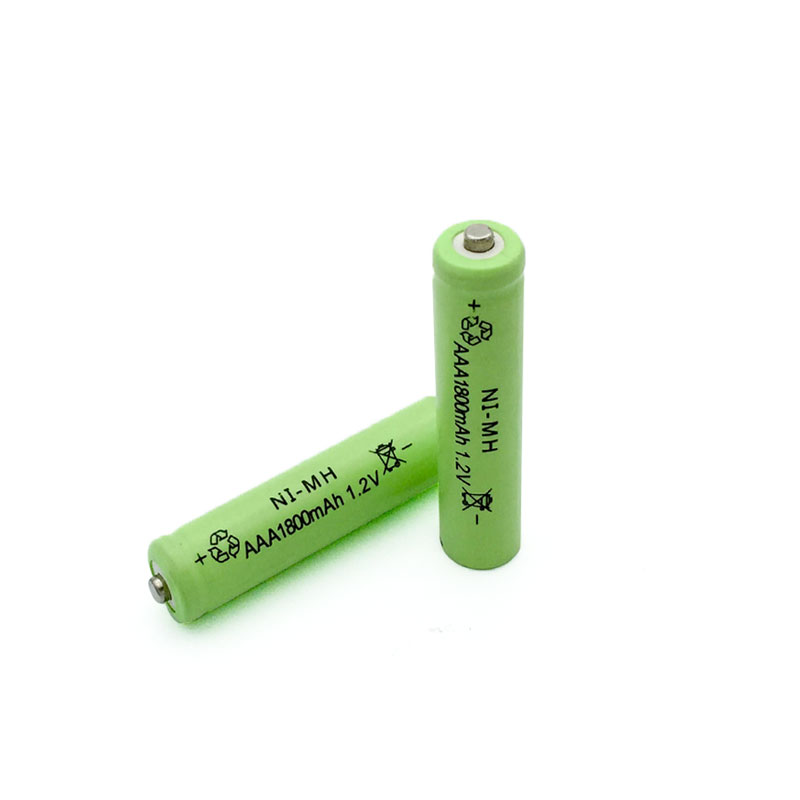 12PCS/lot <font><b>AAA</b></font> New Original <font><b>1.2V</b></font> NiMH <font><b>Rechargeable</b></font> <font><b>Battery</b></font> <font><b>1800mAh</b></font> green Free shipping image