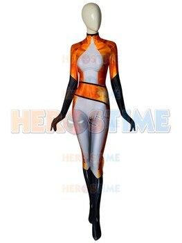 Volpina Miraculous Ladybug Costume 3D Print Halloween Party Suit Superhero Zentai Bodysuit For Adult/ Kids/Custom Made
