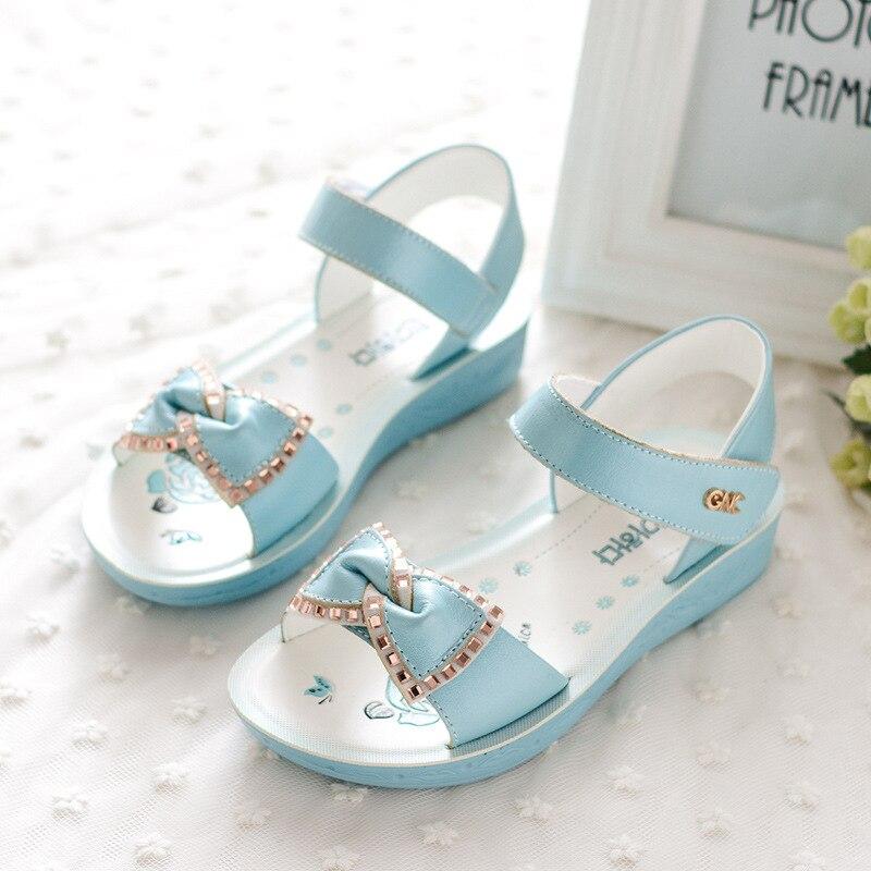 Kadingtong Letnie dziecięce buty dla dziewczynki Księżniczka Party - Obuwie dziecięce - Zdjęcie 3