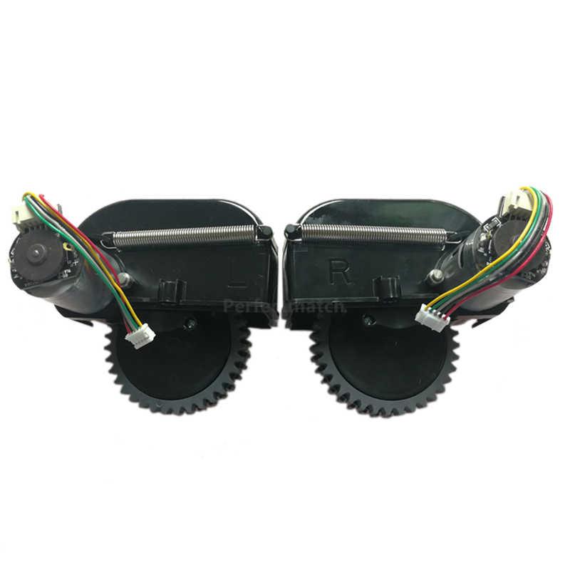 Левое + правое колесо для робота-пылесоса Ilife V3s Pro V5s Pro Запчасти для робота-пылесоса включают замену двигателя