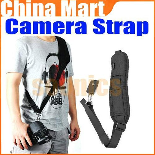 Pro Black Quick Rapid Sling Shoulder Neck for Digital SLR DSLR Camera + Free shipping + Drop shipping