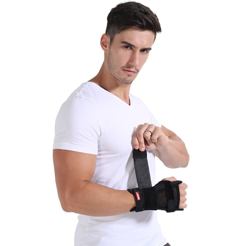 1 PC Women Palms Breathable Fixed Fracture Splint Protector Wrist Support Brace Fitness Dumbbells Gloves Wristband for Men