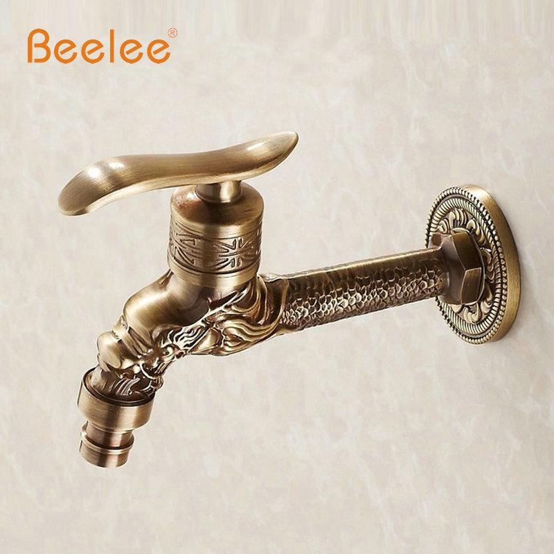 Beelee Antique Bronze Dragon Carved Faucet Garden Washing Machine Faucet Outdoor Faucet Bathroom