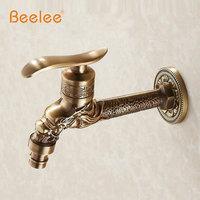 Beelee Antique Bronze Dragon Carved Tap Animal Shape Faucet Garden Bibcock Washing Machine Faucet Outdoor Faucet