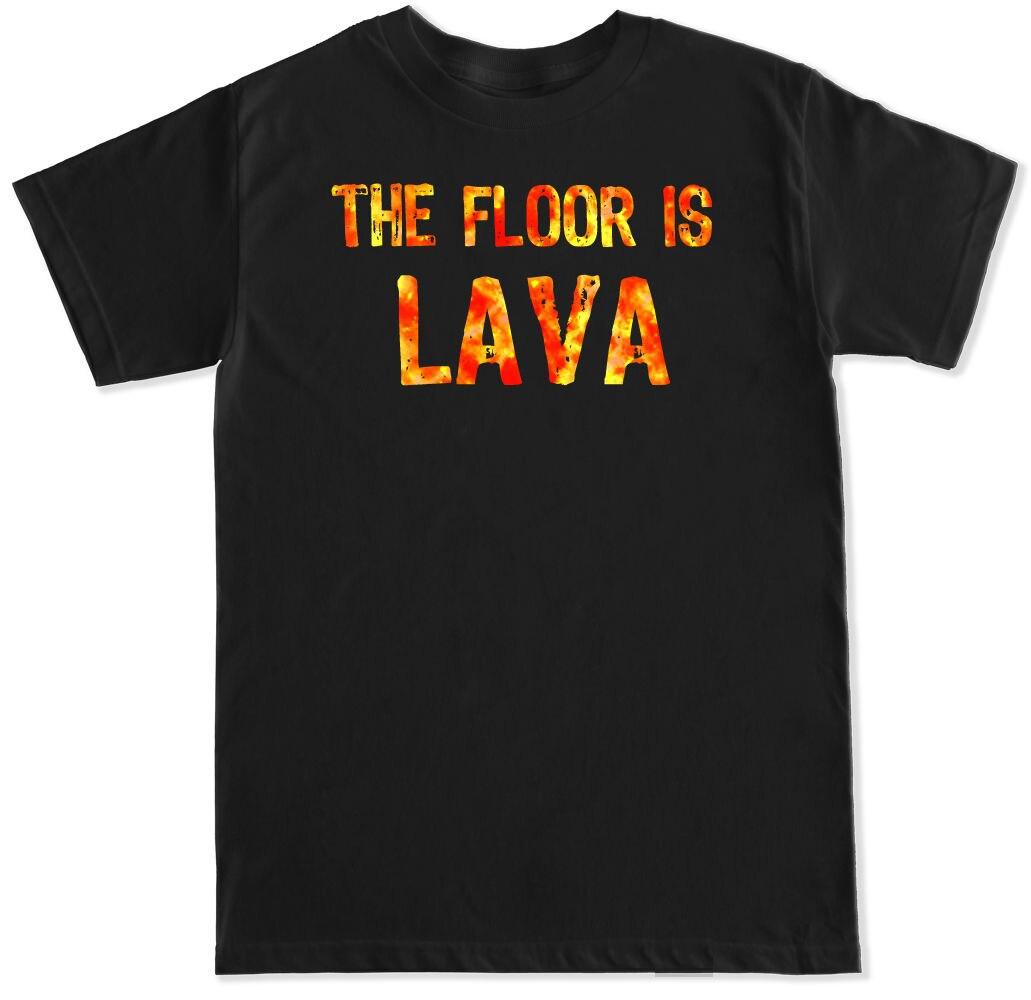 THE FLOOR IS LAVA FUNNY MEME VIRAL CHALLENGE HUMOR VIDEO YOUTUBE MENS T SHIRT