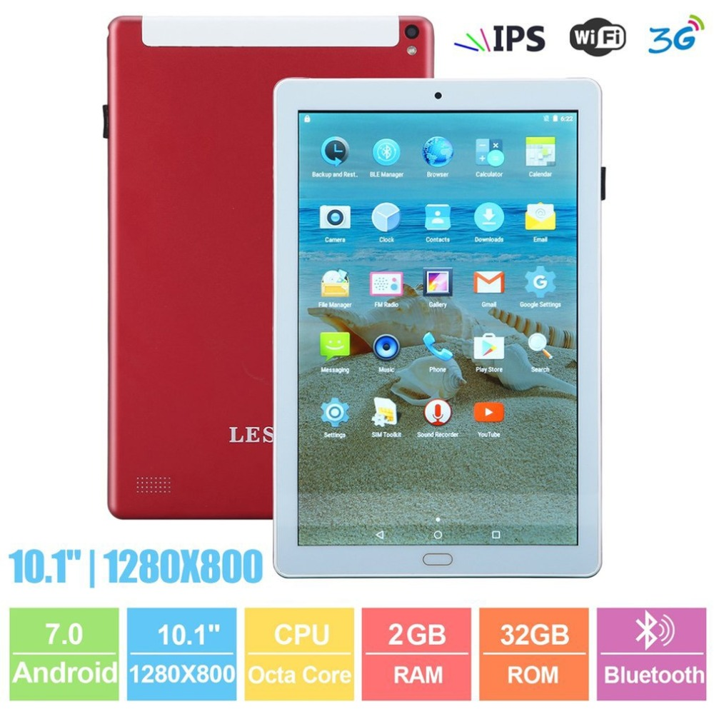 NEW 10.1 Inch Tablet Student Tablets Bluetooth 2G +32G Dual Camera Dual SIM Card 1280*800 Android 7.0 Tablet With OTG